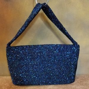 Vintage 1947 Iridescent Glass Micro-Beaded Handbag